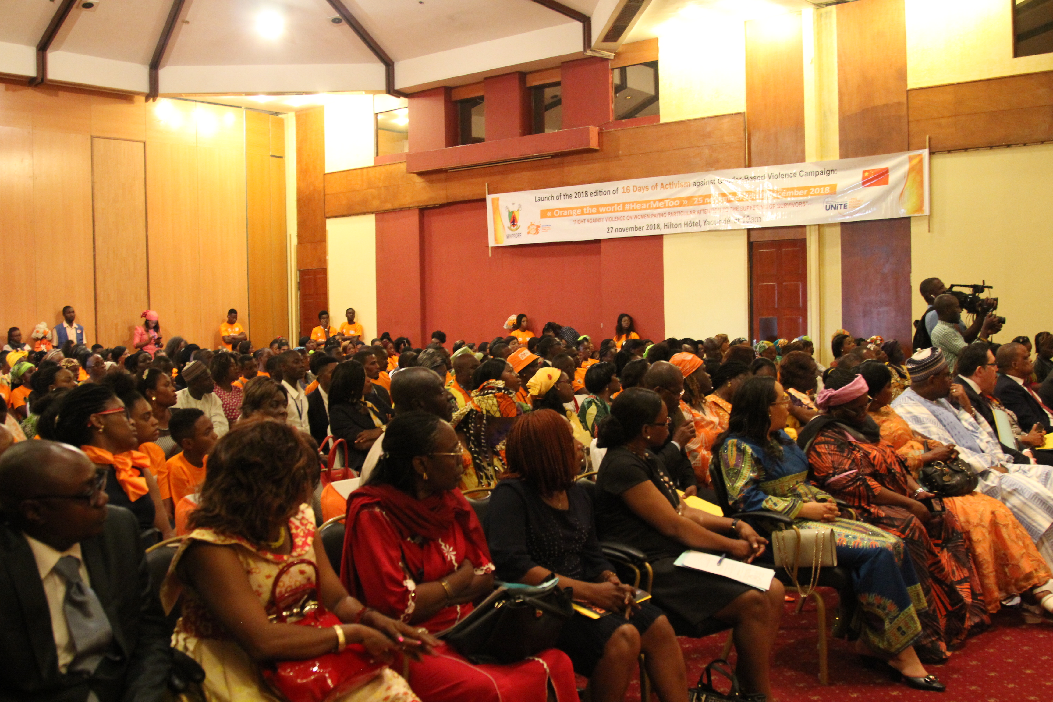 A cross section of participants at the official launched of the 16 days of activism campaign to end violence against women and girls in Cameroon. Photo credit: Teclaire Same/UN Women
