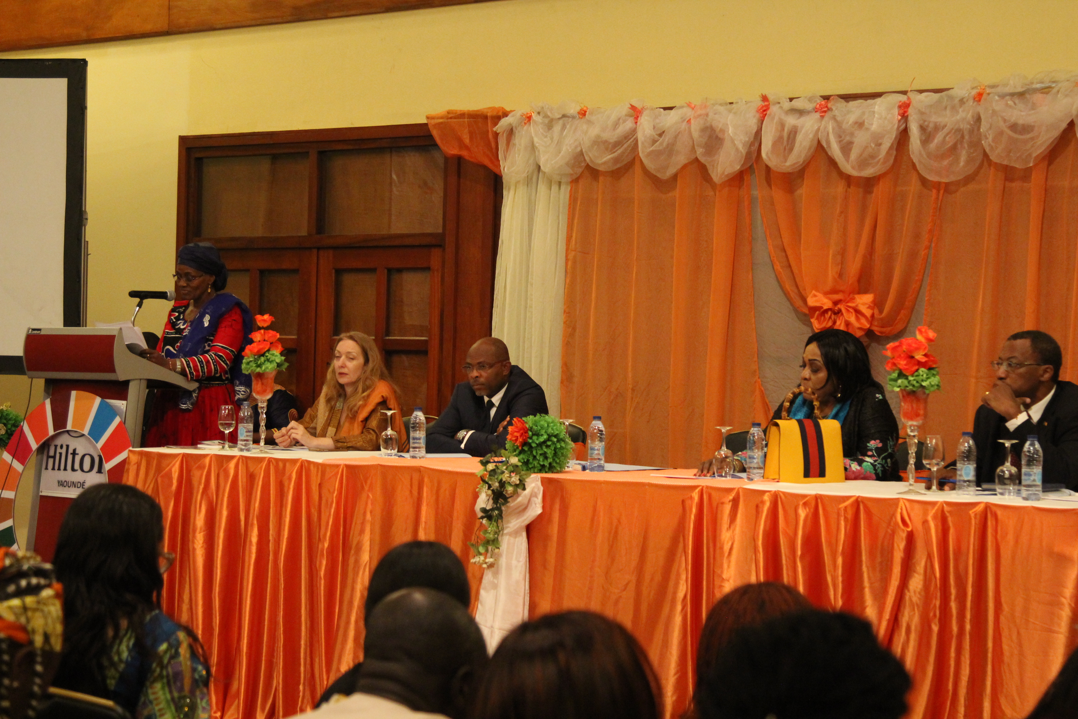 Minister Abena Ondoa Marie-Therese, Minister of Women Empowerment and the Family officially launched the 16 days of activism campaign in Cameroon with a call for the community to pay attention to the voice and sufferings of survivors. Photo credit: Teclaire Same/UN Women