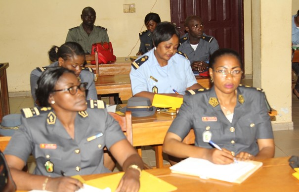 Women officers attending the 5 days training of trainers' seminar. Photo credit: Teclaire Same/UN Women.