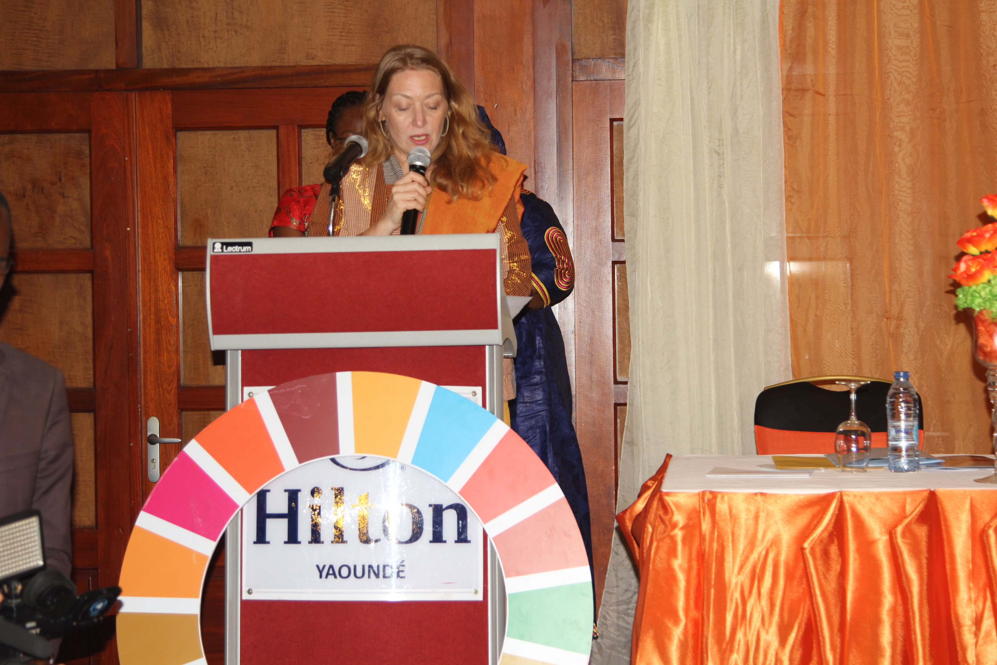 Allegra Baiocchi, Resident Coordinator of the United Nations System in Cameroon, Delivering her welcome address during the Official launch of the days of Activism campaign in Cameroon. Photo credit: Teclaire Same/UN Women