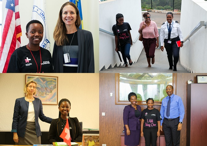 """UN Women launched the first edition of the """"Girls Take Over"""" initiative, aimed at providing a job shadowing experience to brilliant young women in Rwanda"""