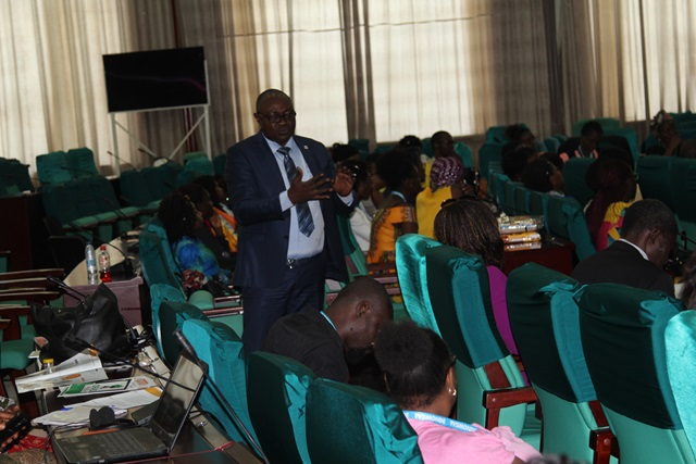 Specialist program during his presentation on value chains.