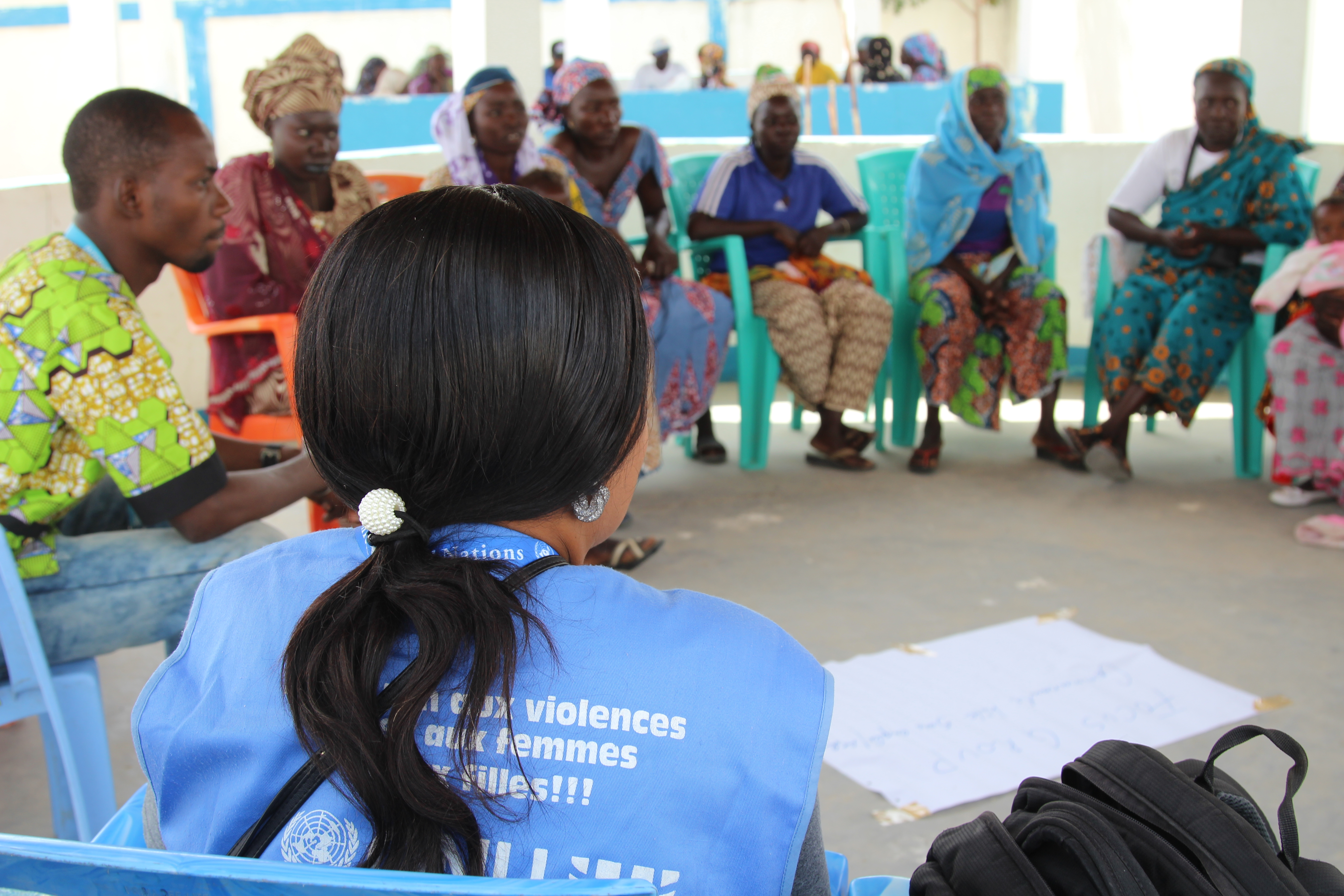 Needs assessment interviews with Women in the social cohesion space in Minawao refugee camp to hot beneficiaries/trainees of the SCE programme.
