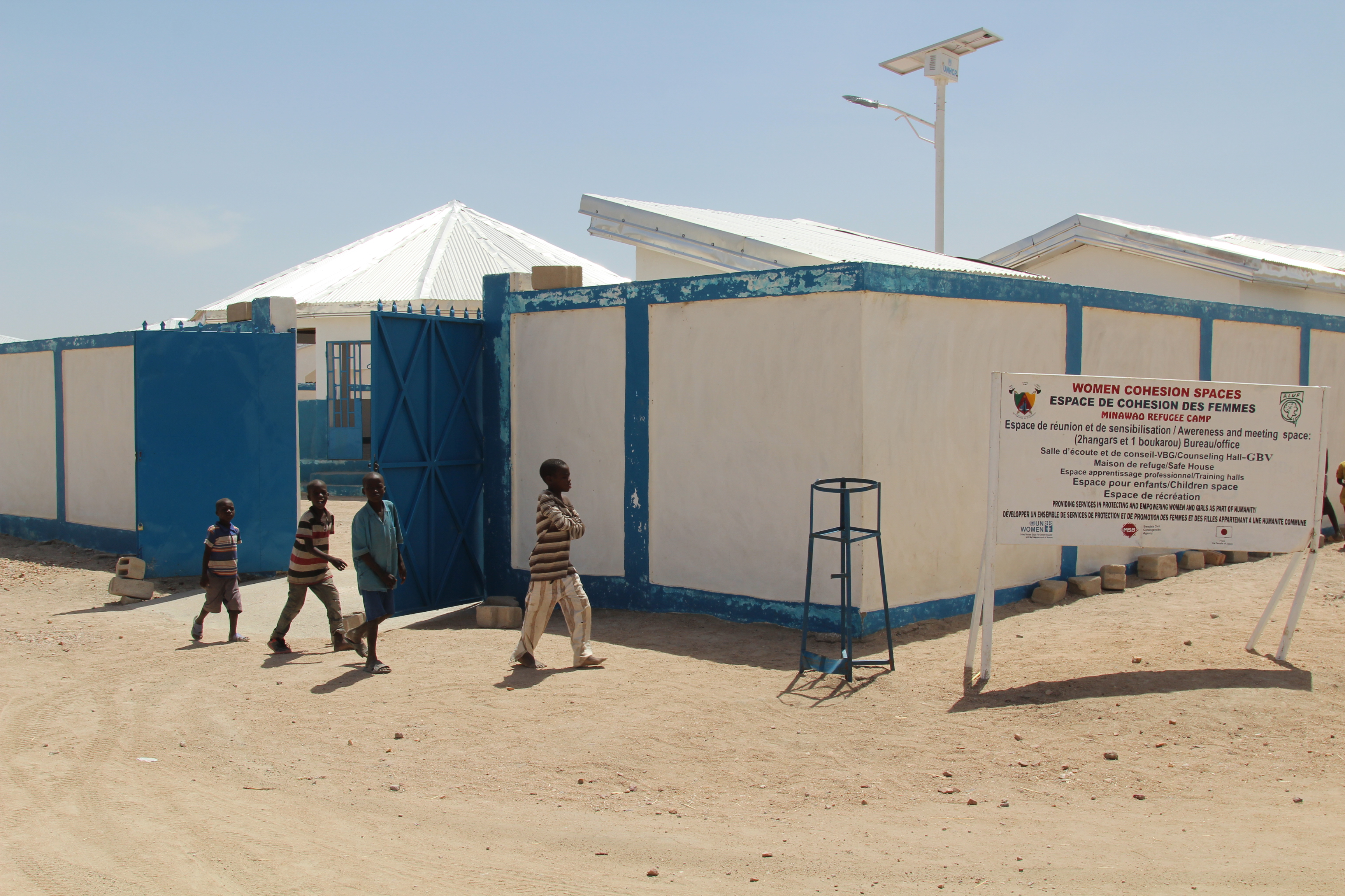Women cohesion space in Minawao refugee camp to hot beneficiaries/trainees of the SCE programme