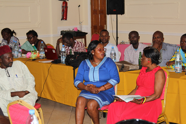 Participants performing a simulation exercises during the training workshop in Bafia.