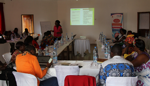 A cross section of participants during the training workshop in Bertuoa.