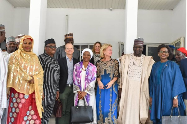 UN Women Deputy Executive Director Åsa Regnér, UN Women Nigeria Country Representative, Comfort Lamptey, UN Women Deputy Country Representative, Lansana Wonneh and UN Women Regional Director for West & Central Africa, Oulimata Sarr with Hon. Usman Khadafu, The Deputy Governor of Borno State and his delegation.