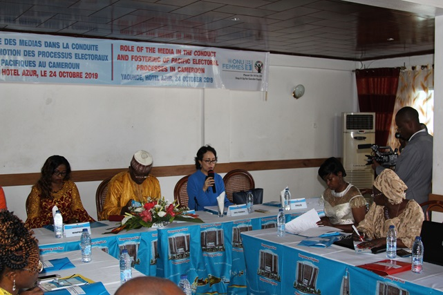 Ms Hind Jalal, UN Women Deputy Rep delivering her opening remarks during the workshop.