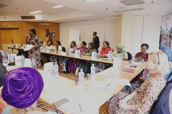 UN Women Deputy Executive Director Åsa Regnér and her delegation with a cross-section of  women in politics.