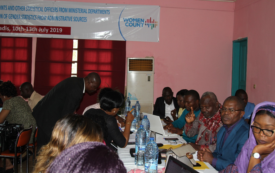 UN Women trains 37 gender statistics focal points of public institutions on gender mainstreaming in the production of administrative statistics