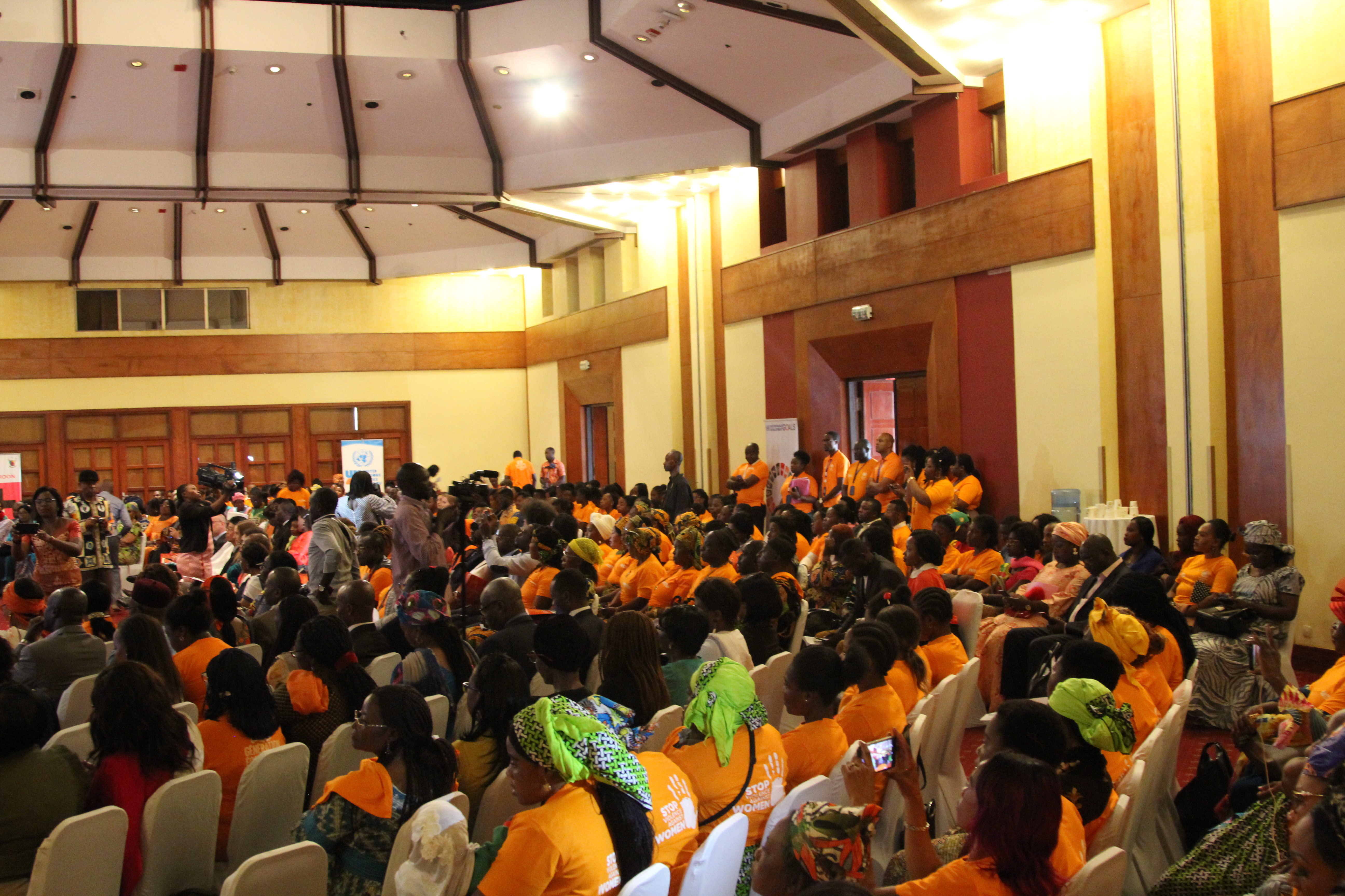 Participants attending the 16 days campaign launch event in Cameroon. Photo credit, Teclaire Same/UN Women
