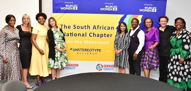 Founding members of the Unstereotype Alliance at the Launch. Photo: UN Women/Flow Communications