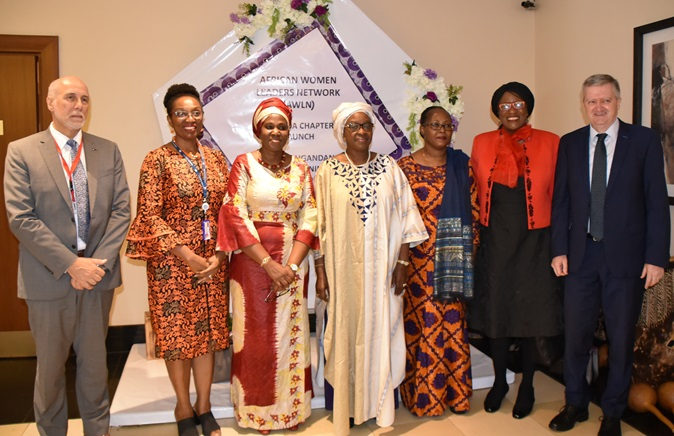 AWLN dignitaries and UN heads of agencies at the launch