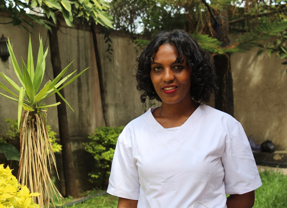 Simret Tesfaye is nurse at the Association for Women's Sanctuary and Development, a non-profit organization in Addis Ababa, Ethiopia,
