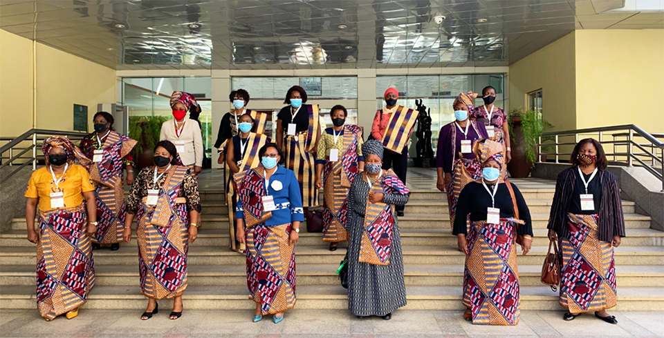 Participants pose for a photo during the exchange of experience on the implementation of recommendations of 39th summit of Southern Africa Development Community, SADC heads of States held in 2019