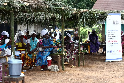 Traditional practitioners in Liberia have embarked alternative economic livelihood activities to eliminate FGM. Photo credit - UN Women Liberia