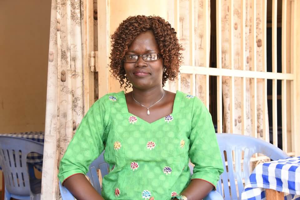Evelyn Aparo is one of the participants of UN Women's training of women leaders in local government structures in Northern Uganda aimed at increasing young women's participation in decision-making and improving their leadership skills. Photo: UN Women/Martin Niinsima.