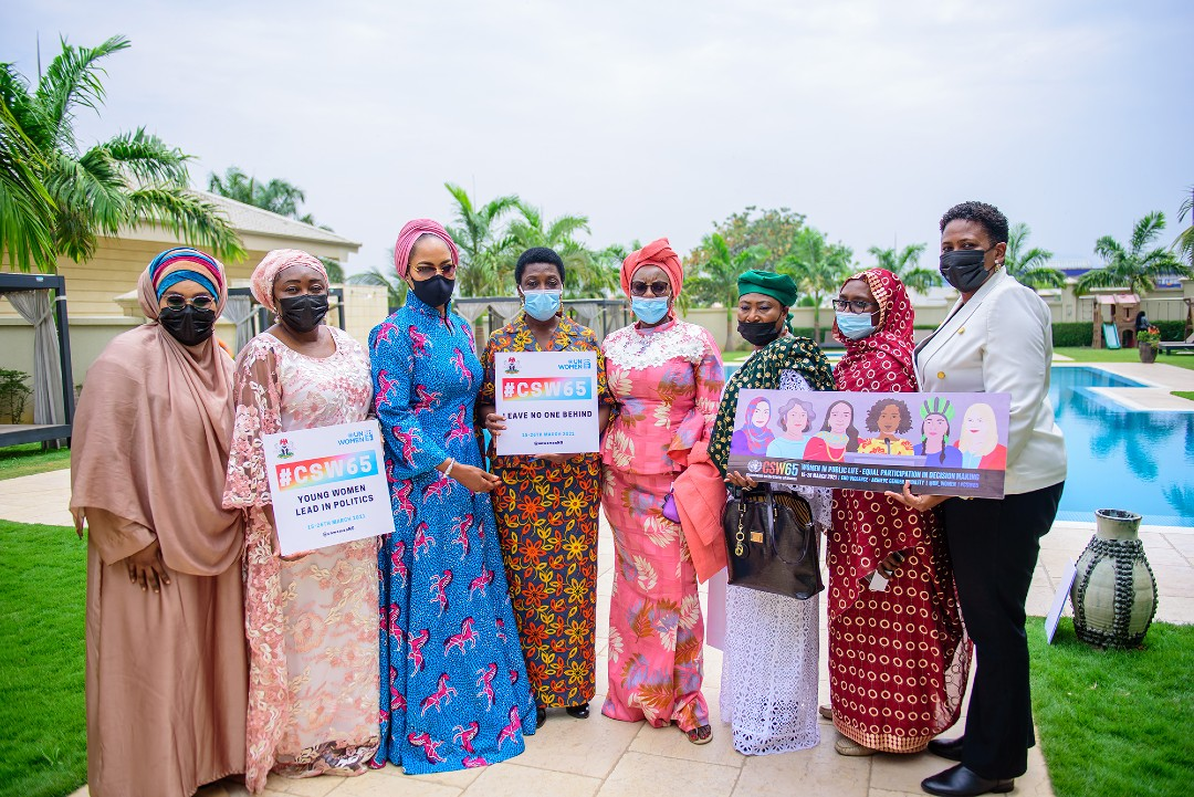 Women from private sector standing in favor of women in Nigeria - Photo credits : UN Women Africa