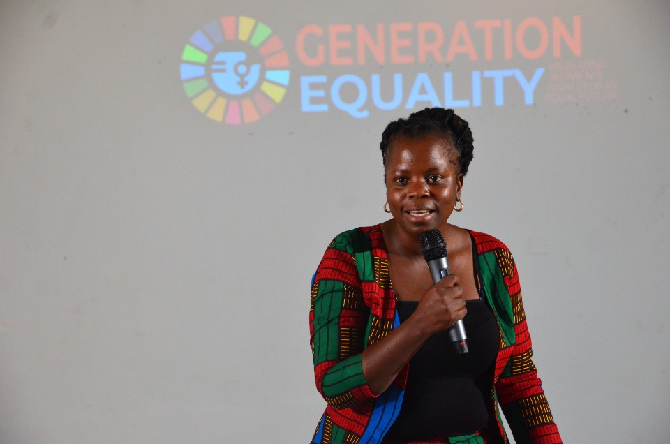 """Ms Mary Mzubwa Ndaro, Co-Founder of the Caravan Tanzania advocated for regional movements that """"talk to each other"""" to advance a common vision as a collective, inclusive of young male champions."""