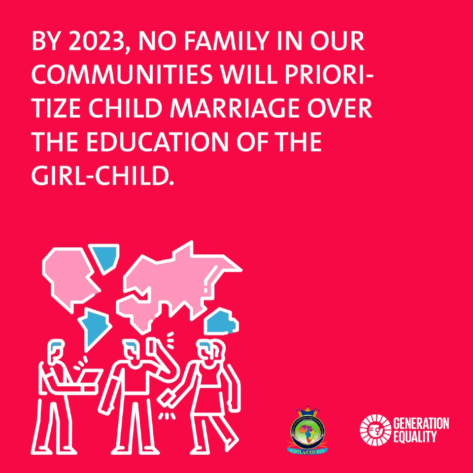 COTLA By 2030 no family will prioritize child marriage