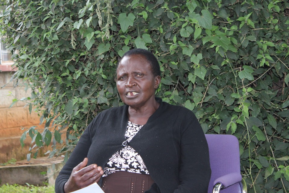 Esther, 65, lives in Uasin Gishu County of Kenya's Rift Valley. She is a senior figure in her community with over twenty years experience in community conflict management. Her family's property was destroyed during the post-election vio