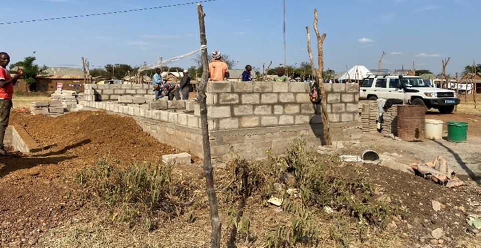 Public toilets for women and men under construction in Segese Market, Msalala District in the Shinyanga Region. Photo: UN Women/Lucy Tesha