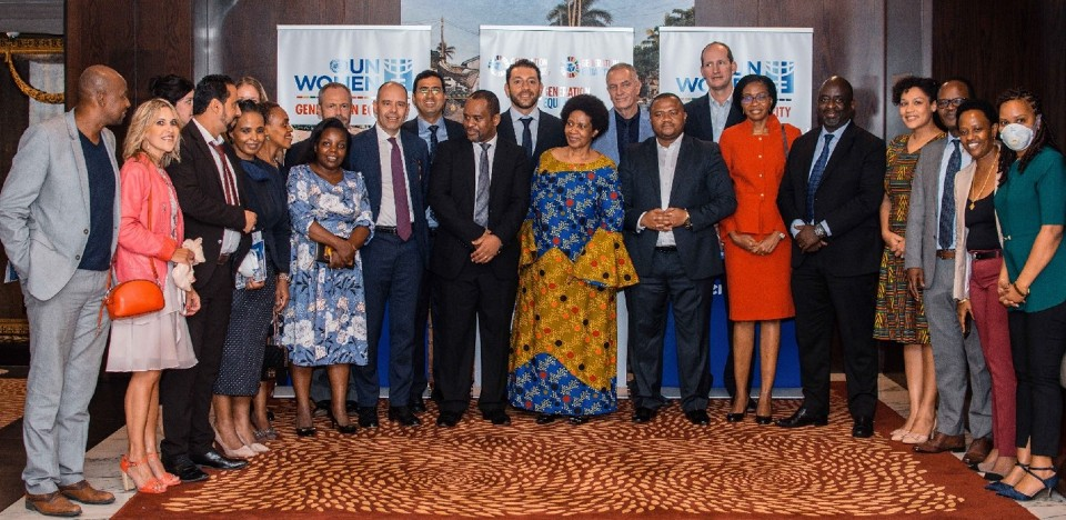 Some of the development actors that met with Dr. Mlambo-Ngcuka to discuss how to take the gender equality agenda forward in Tanzania. Photo: UN Women/Tsitsi Matope