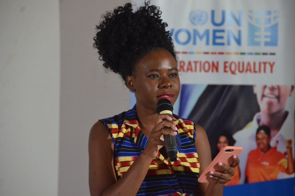 The Founder and Executive Director of Her Initiative, Ms. Lydia Charles-Moyo. Photo: UN Women/Tsitsi