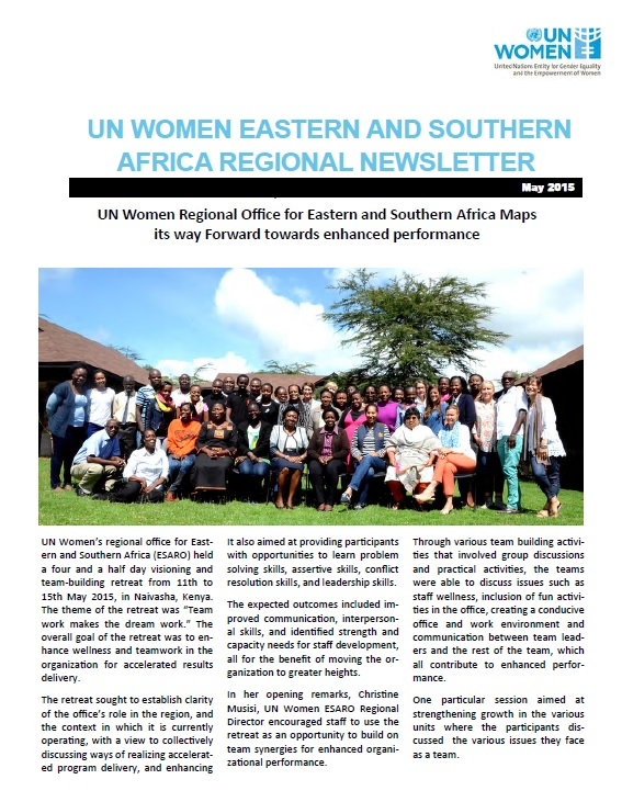 UN Women Eastern and Southern Africa Regional newsletter of May