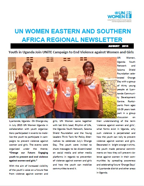 UN Women Esaro August Newsletter