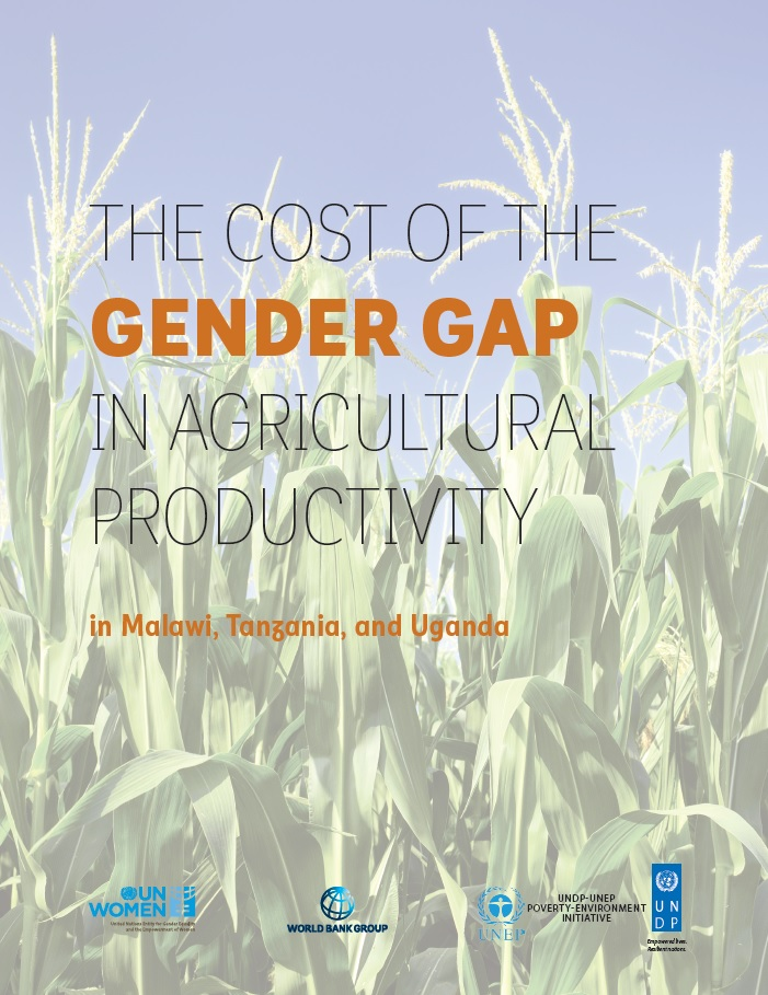 The cost of the gender gap in agricultural productivity in Malawi, Tanzania and Uganda cover