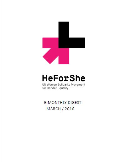 HeForShe pinning Male HoA UNCT Ethiopia of March 2016