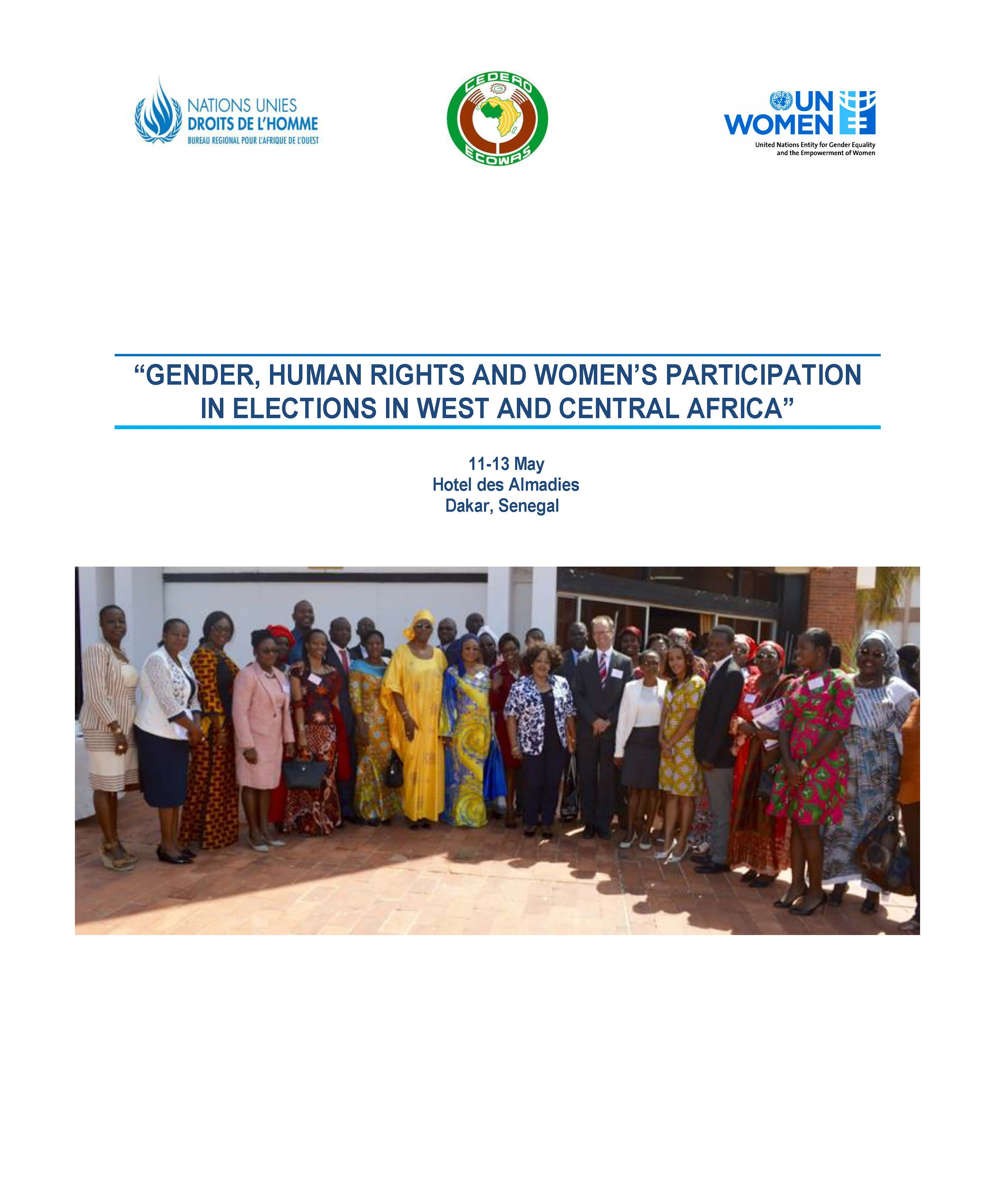 Gender,  Human Rights and Women's Participation in Elections in West and Central Africa