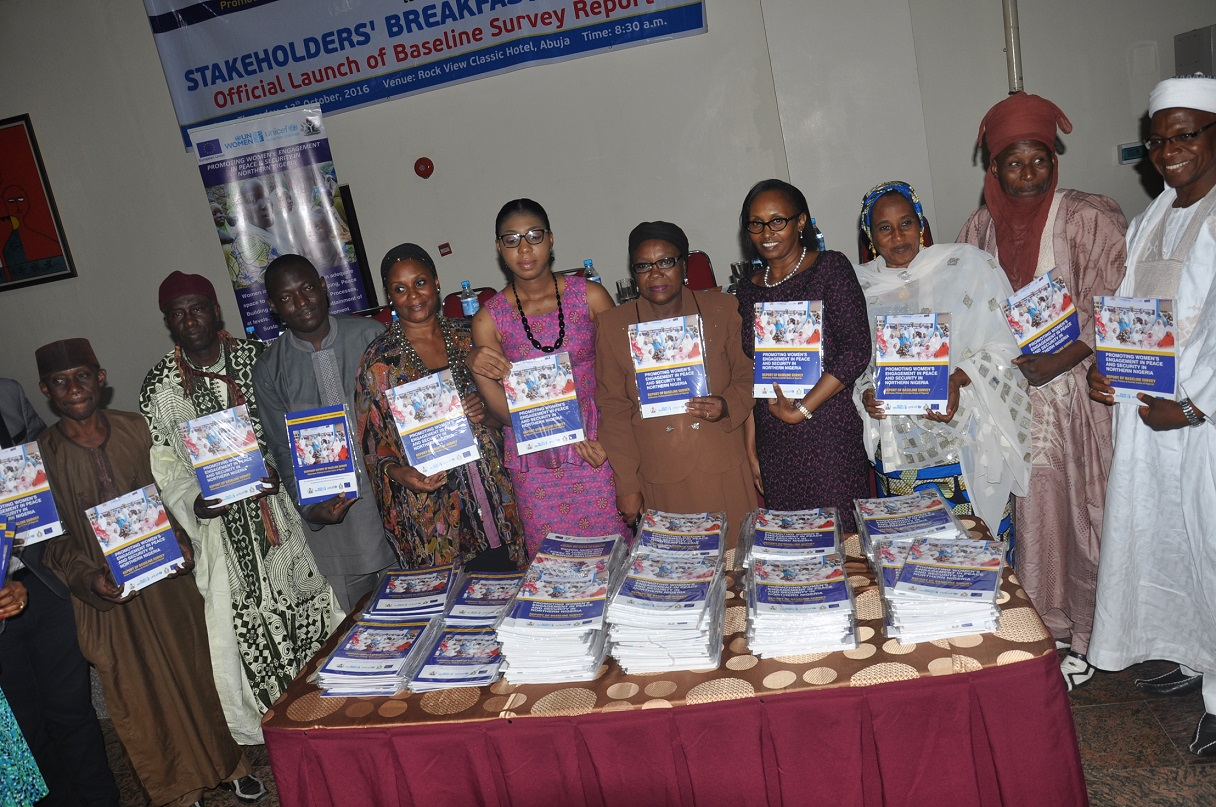 UN Women launches Baseline Survey Report on the engagement of women in Peace and Security Processes in Northern Nigeria