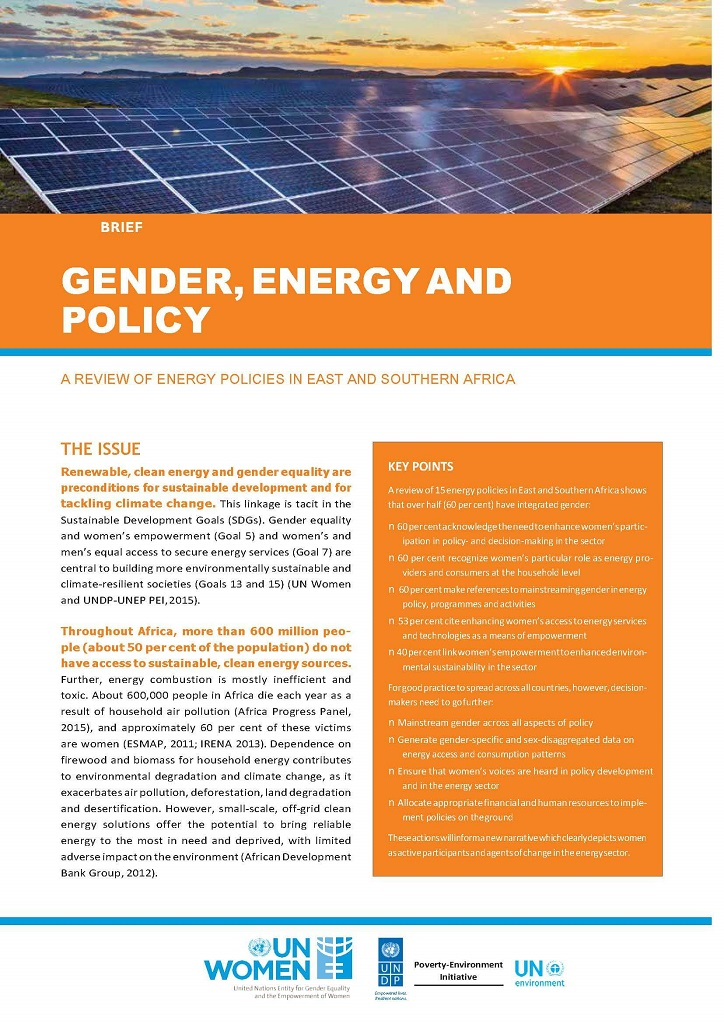 ESAR Gender Energy Policy