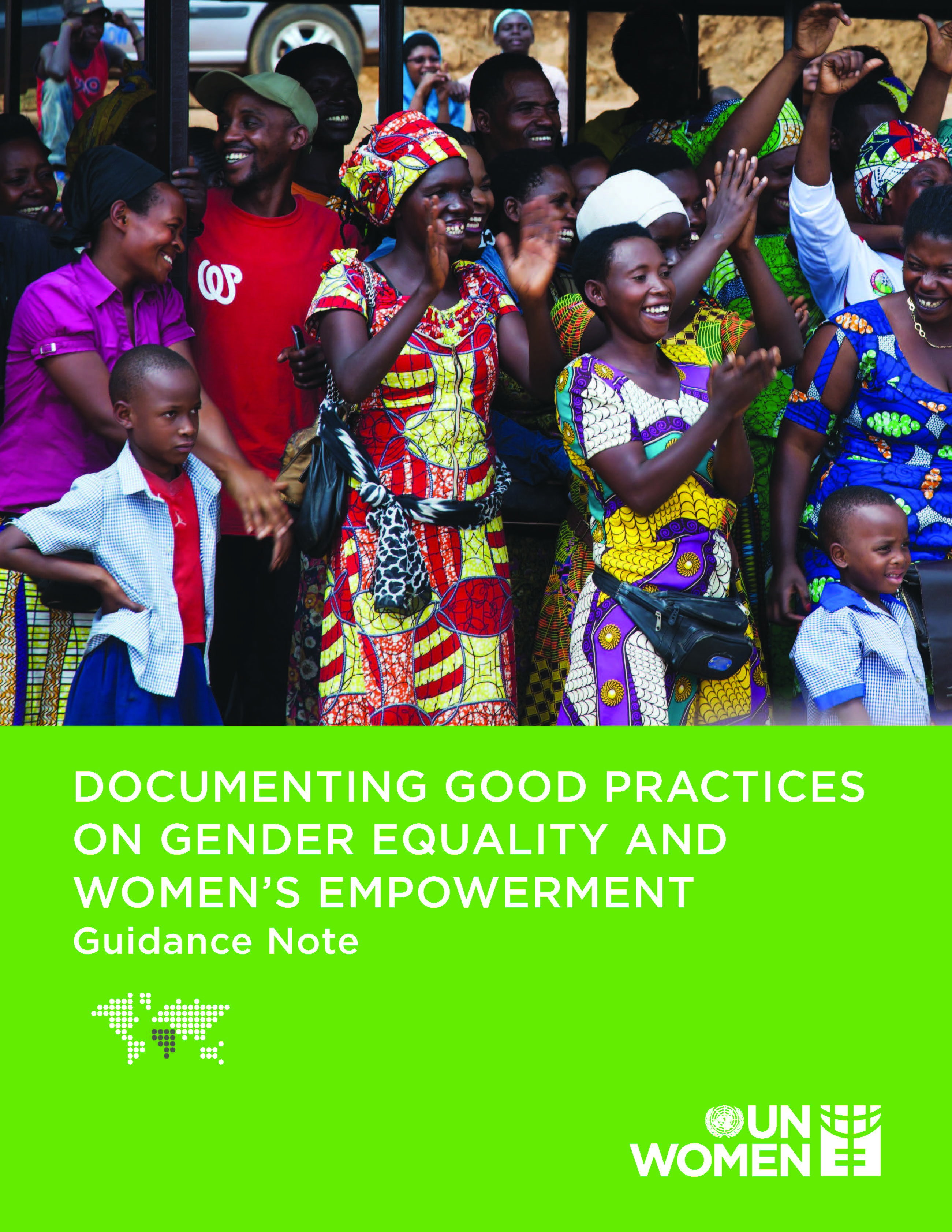 Guidance Note on documenting good practices on Gender Equality and Women's Empowerment