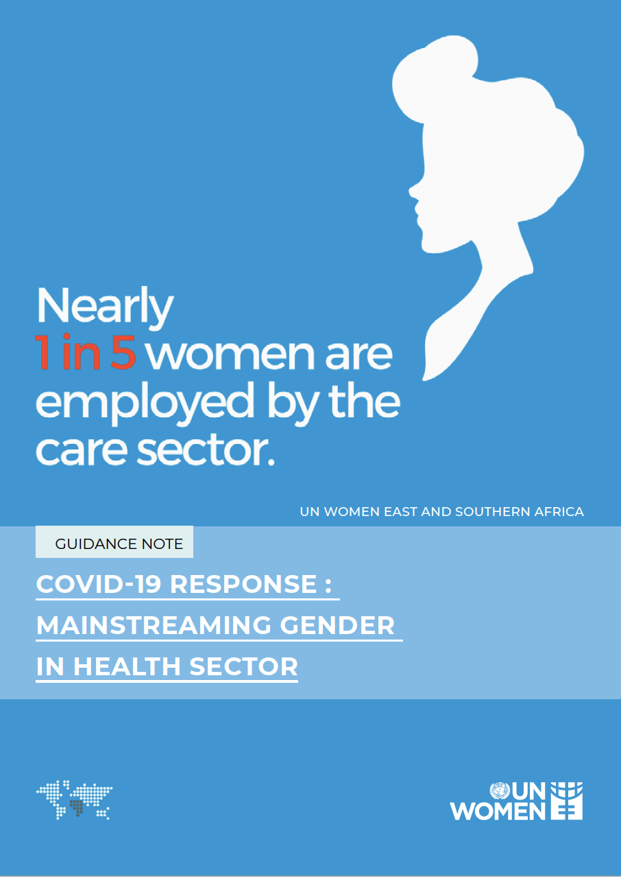 COVID - 19 RESPONSE MAINSTREAMING GENDER IN HEALTH SECTOR