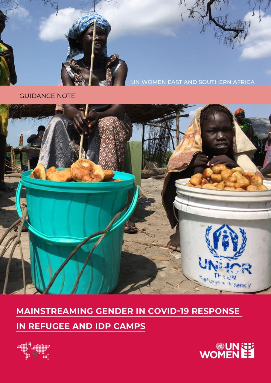 MAINSTREAMING GENDER IN COVID - 19 RESPONSE IN REFUGEE AND IDP CAMPS