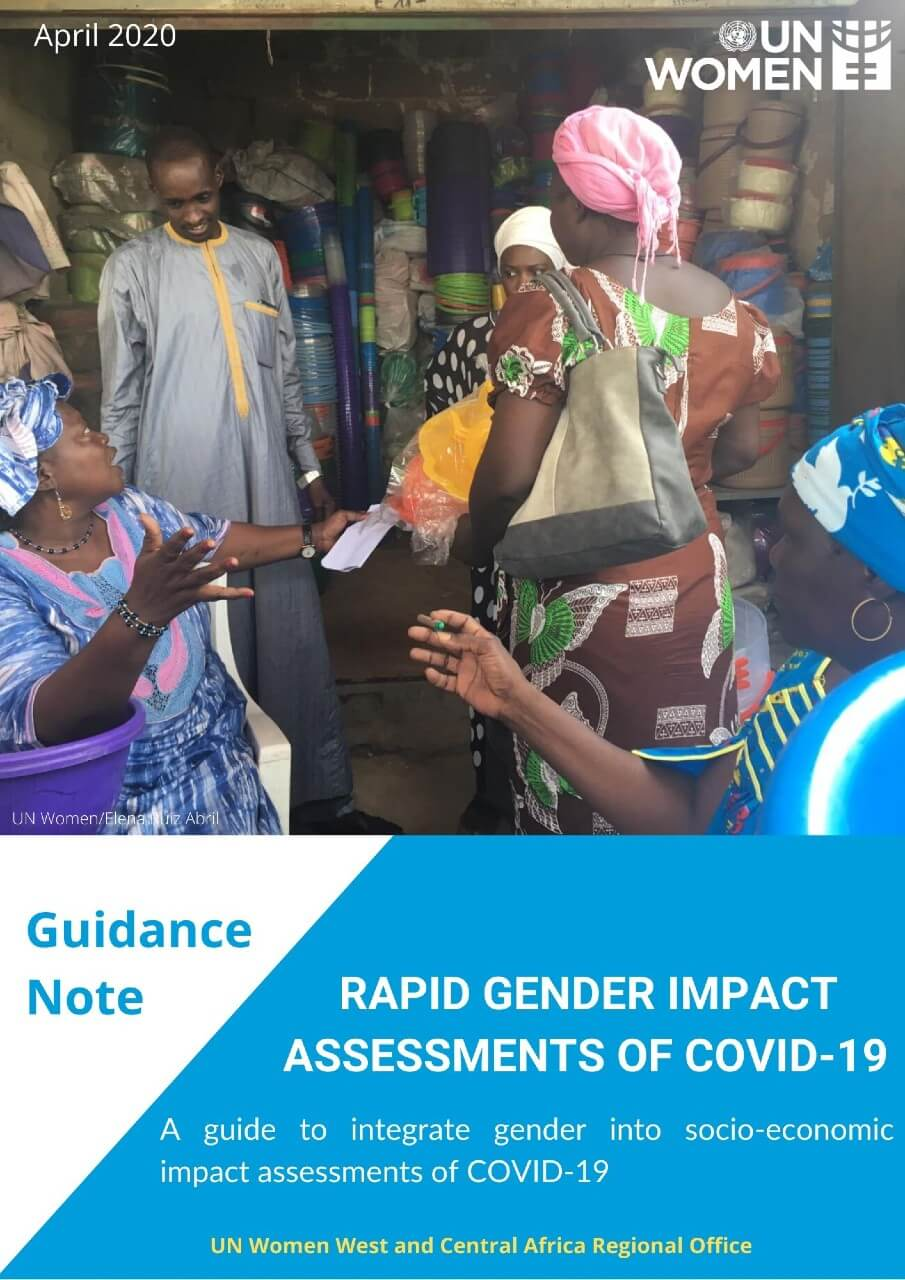 Rapid Gender Impact Assessments of COVID-19. A guide to integrate gender into socio-economic impact assessments of COVID-19