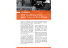 POLICY BRIEF: COVID-19 and Ending Violence Against Women and Girls in Ethiopia