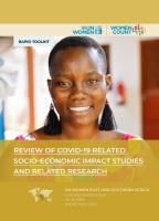 REVIEW OF COVID - 19 RELATED SOCIO-ECONOMIC IMPACT STUDIES AND RELATED RESEARCH