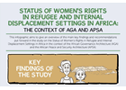 Infographic | Status of Women's rights in refugee and internal displacement setting in Africa: the context of AGA and APSA