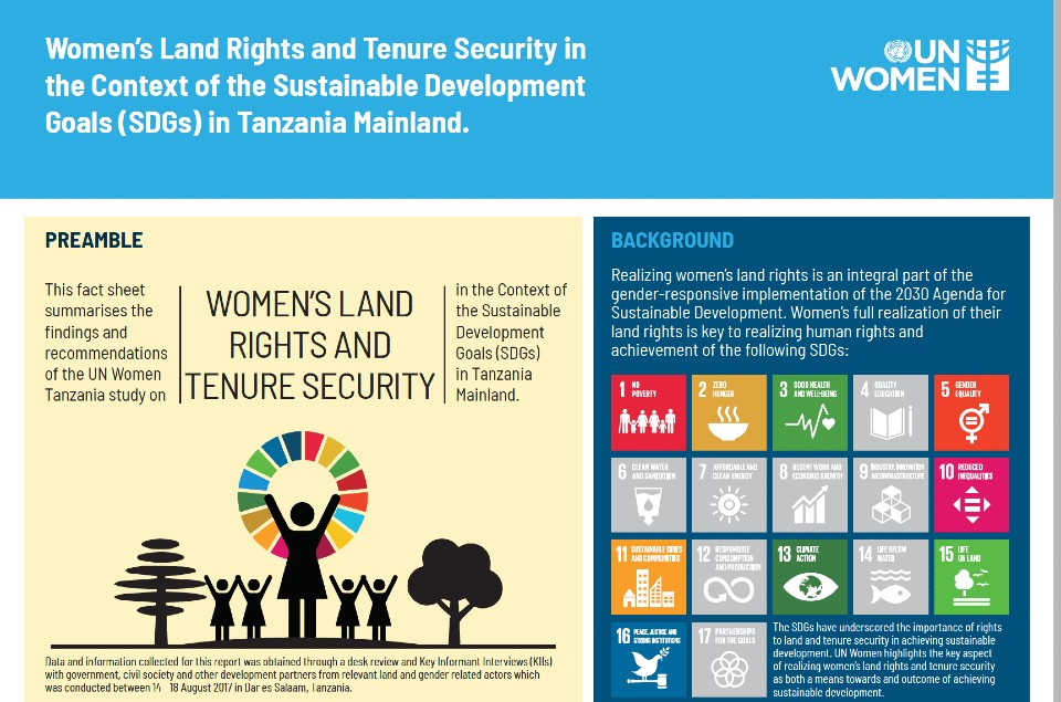 Infographic - Women's Land Rights and Tenure Security in the Context of the Sustainable Development Goals