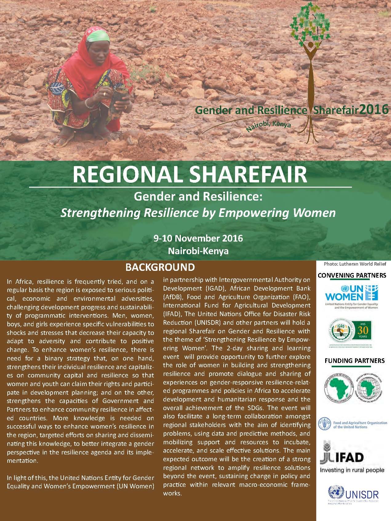 2016 Regional ShareFair on Gender and Resilience
