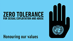 Zero Tolerance for Sexual Exploitation and Abuse - Honouring our values