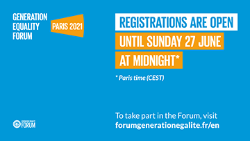Registration opens for Generation Equality Forum in Paris