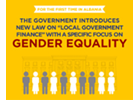 """Infographics: New law on """"Local Government Finance"""" in Albania with a specific focus on gender equality"""
