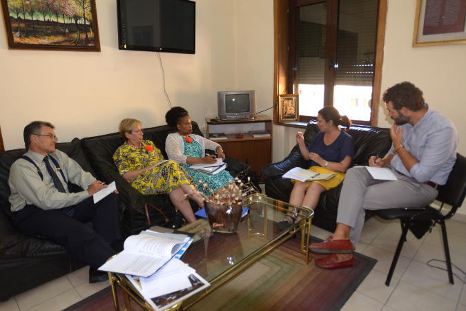 During the meeting with Ms. Mimoza Dhembi, Director of Budget at the Ministry of Finance. Photo: UN Women/Violana Murataj