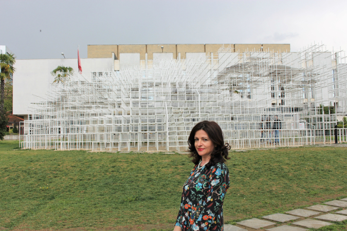 Alma Gerxhani, Administrator and Co-Founder of Visit Tirana tourist portal. Photo: UN Women Albania/Yllka Parllaku