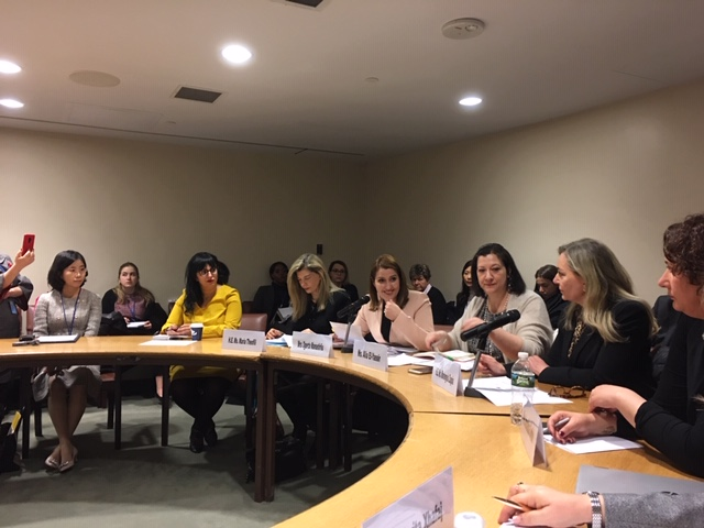 Best practices of social entrepreneurship as a woman economic empowerment enabler discussion during the side event at CSW63.  Photo: UN Women